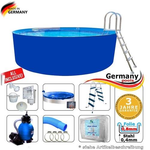 4,00 x 0,90 m Pool Komplettset