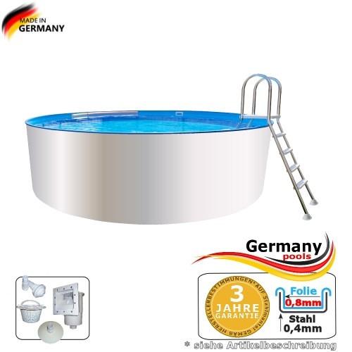 4,00 x 0,90 m Poolbecken Weiss