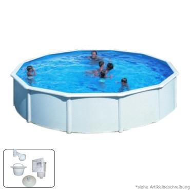 4,60 x 1,20 m Pool STARK1 Plus Set Breiter Handlauf