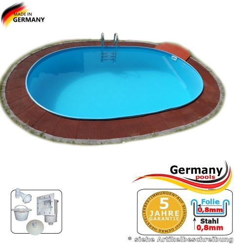 6,30 x 3,60 x 1,35 m Schwimmbecken