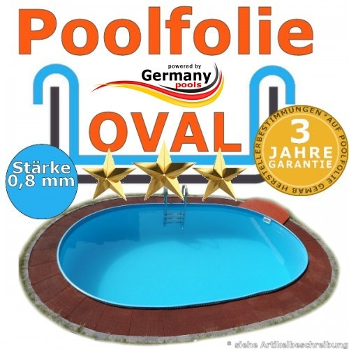7,30 x 3,60 x 1,20 m x 0,8 Poolfolie bis 1,50 m