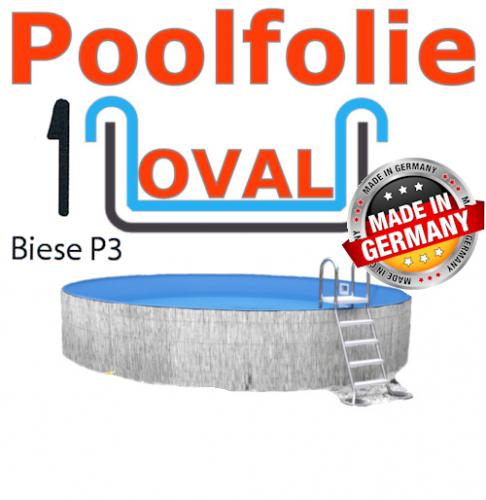 700x350x120 cm x 0,8 Poolfolie mit Keilbiese Ovalpool