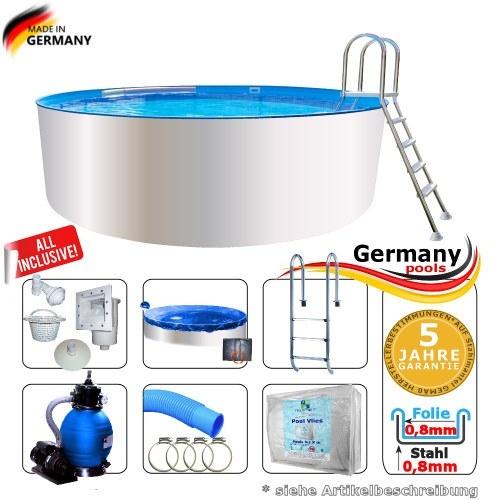 8,0 x 1,35 Schwimmbecken Set