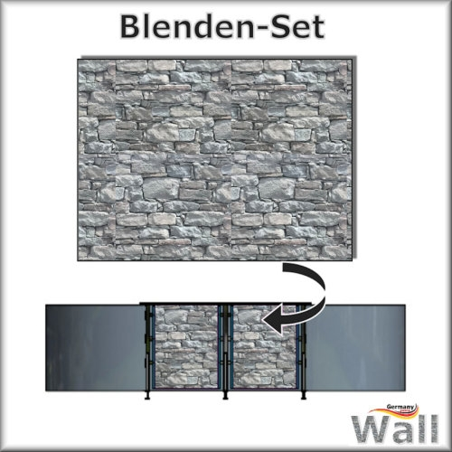 Germany-Pools Wall Blende B Tiefe 1,20 m Edition Stone
