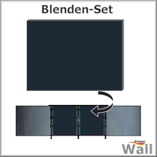 Germany-Pools Wall Blende C Tiefe 1,25 m Edition Poseidon