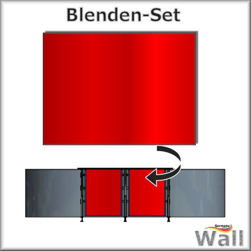 Germany-Pools Wall Blende C Tiefe 1,25 m Edition Red