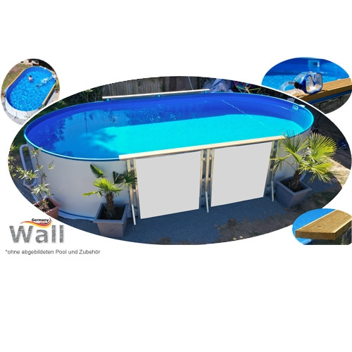 Ovalpool freistehend 6,23 x 3,60 m Germany-Pools Wall