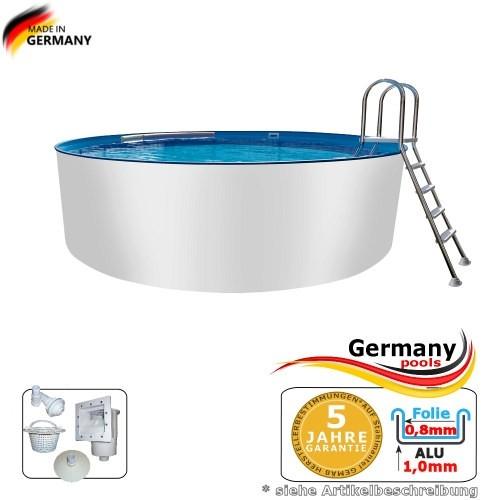 Pool aus Alu 4,50 x 1,25 m Alupool Aluminium-Pool