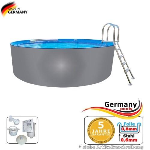 Pool mit Edelstahlwand 4,5 x 1,25 Edelstahlpool