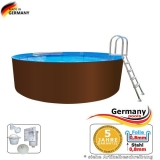 2,50 x 1,25 m Stahl-Pool