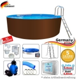 320 x 125 cm Stahl-Pool Set