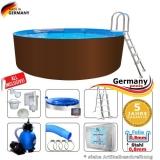 350 x 125 cm Stahl-Pool Set