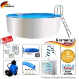 4,00 x 0,90 m Poolset Weiss