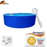 4,00 x 1,25 m Stahlwand Pool