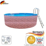 4,6 x 1,2 Schwimmingpool Ziegel-Optik