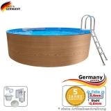5,00 x 1,20 Holzpool Dekor Holz Design Pool Holz-Optik