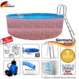 500 x 120 cm Poolset Gartenpool Pool Komplettset Brick