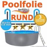 6,00 x 1,20 m x 0,8 Poolfolie rund bis 1,50 m