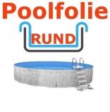 6,00 x 1,35 m x 0,8 mm Poolfolie rund mit Einhängebiese