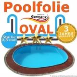 6,10 x 3,60 x 1,20 m x 0,8 Poolfolie bis 1,50 m