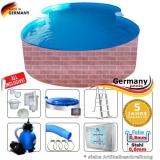 8,55 x 5,00 x 1,20 Pool achtform Achtformbecken Set