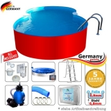 8,55 x 5,00 x 1,25 m Achtform-Swimmingpool Set Achtform-Pool