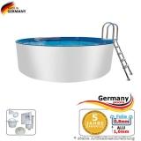 Aluwand Becken 4,60 x 1,50 m Aluminium-Swimmingpool