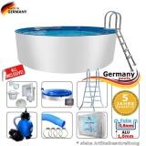 Aluwand Pool 350 x 125 Alupool Komplettset Aluminium-Pool