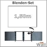 Germany-Pools Wall Blende B Tiefe 1,50 m Edition Alpha Weiß