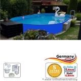 Ovalpool Blau 870 x 400 x 125 cm