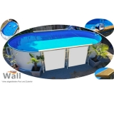 Ovalpool freistehend 7,37 x 3,60 m Germany-Pools Wall