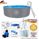 Pool aus Edelstahl 320 x 125 cm Edelstahlpool Komplettset