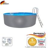 Pool mit Edelstahlwand 2,5 x 1,25 Edelstahlpool