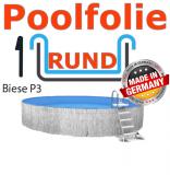 Poolfolie Rundbecken 6,0 x 1,5 x 0,6 Innenfolie Keilbiese
