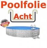 Poolfolie acht 5,25 x 3,20 x 1,35 m x 0,8 Folie Ersatz Sand