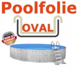 Schwimmbadfolie oval 600 x 320 x 150 m x 0,8 Innenhülle Sand
