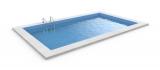 8,0 x 4,0 x 1,5 m Rechteckpool Rechteckbecken Pool