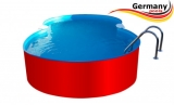 7,25 x 4,60 x 1,25 m Achtform-Swimmingpool Set Achtform-Pool
