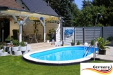 Ovalpool Elfenbein 500 x 300 x 125 cm