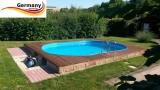 8,00 x 4,00 x 1,20 m Pool oval Komplettset