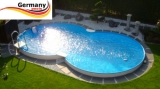 4,70 x 3,00 x 1,25 m Alu-Achtformpool Alu-Achtformbecken Pool