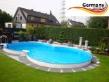 8,55 x 5,00 x 1,25 m Achtform-Gartenpool Achtform-Schwimmbecken