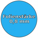 Poolfolie acht 6,25 x 3,60 x 1,35 m x 0,8 Folie Ersatz