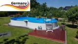 5,25 x 3,20 x 1,25 m Alu-Achtformpool Alu-Achtformbecken Pool