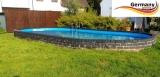 Ovalpool Braun 715 x 400 x 125 cm
