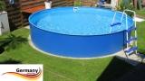 2,50 x 1,25 m Stahlwand Pool