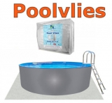 7,30 x 3,75 x 1,20 m Stahlwandpool Breiter Handlauf Pool Set