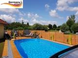Ovalpool Holz Design 490 x 300 x 120 cm