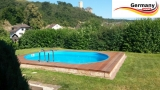 Ovalpool Rot 740 x 350 x 125 cm