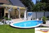 6,1 x 3,6 x 1,25 m Edelstahl Ovalpool Einbau Pool oval Komplettset